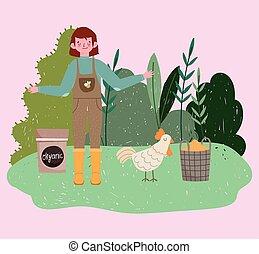 tuinman, graankorrel, planten, organisch, natuur, akker, jongen