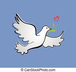tulp, vrede, duif