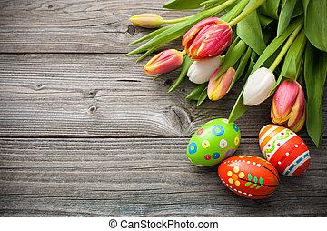 tulpen, eitjes, pasen