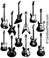 twaalf, elektrische guitars