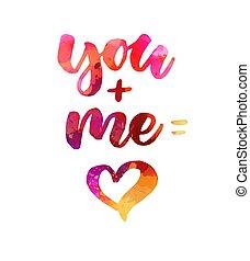 u, hart, mij, =, +, lettering