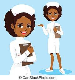 uniform, witte , black , verpleegkundige