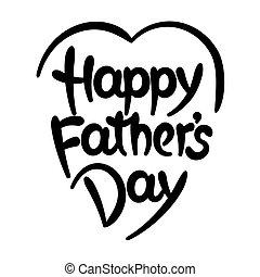 vader, lettering, hand-drawn, dag, vrolijke