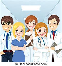 vakmensen, medisch team