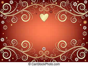 valentijn, achtergrond, roze