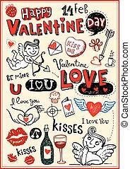 valentijn, doodles