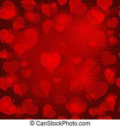 valentijn, rood, model, seamless