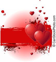 valentijn, spandoek, grunge