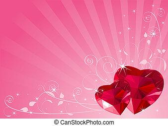 valentijnshart, achtergrond