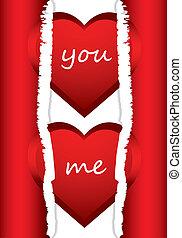 valentine, bijzondere , achtergrond, hartjes, dag, rood