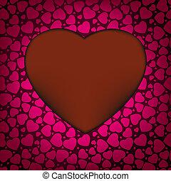 valentine, eps, hearts., achtergrond, 8, dag, rood
