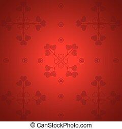valentine, -, illustratie, vector, achtergrond, dag, rood