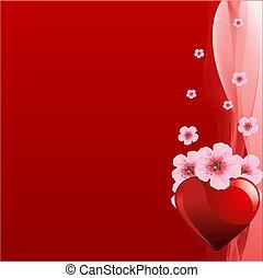 valentine, rode achtergrond, dag