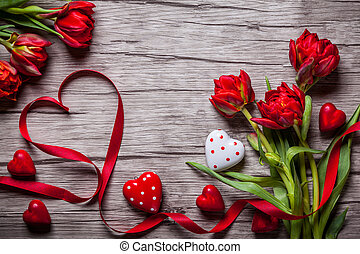 valentines, achtergrond, dag