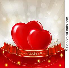 valentine`s dag, achtergrond, twee