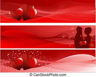 valentine's dag, banieren