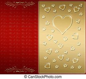 valentines, kaart