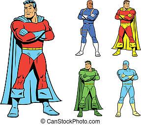 variatio, superhero, classieke, koel