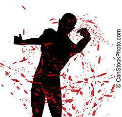 vecht, silhouette