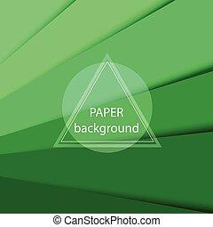 vector, abstract, papier, groene achtergrond, sheets.