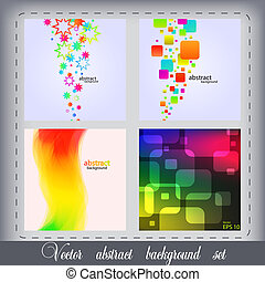 vector, abstract, set, 4, achtergrond
