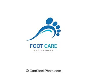 vector, care, voet, logo, ilustration
