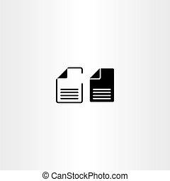 vector, documenten, papier, ontwerp, bestand, black , pictogram
