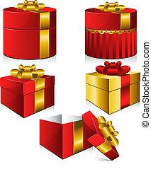 vector, dozen, set, vijf, cadeau