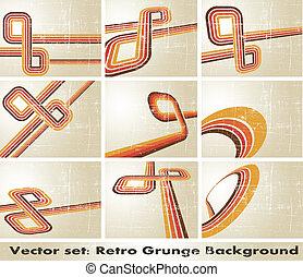 vector, grunge, retro, achtergrond