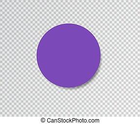 vector, illustration., sticker, achtergrond., papier, viooltje, schaduw, transparant, design.