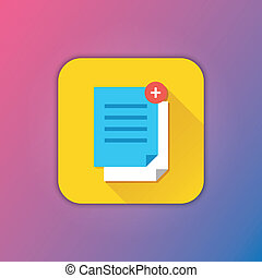 vector, kopie, documenten, pictogram