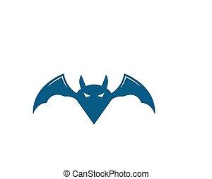 vector, logo, vleermuis, pictogram, ilustration