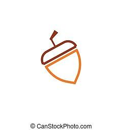 vector, mal, eikeltjes, logo, ilustration