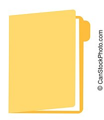 vector, map, documenten, illustration., spotprent