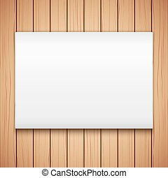 vector, mockup, textuur, hout, buitenreclame, plank, lege