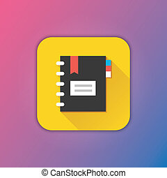 vector, notepad, pictogram