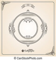 vector, o, symbols., brief, certificaat, glyph., frame, symbool., verzameling, calligraphic, geschreven, communie, ontwerp, retro, fotn, uitnodiging, veer, hand, decor., grens