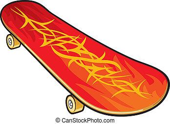 vector, skateboard