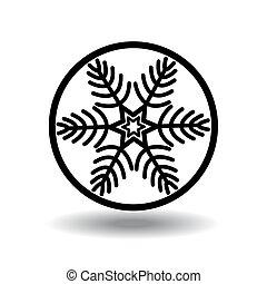 vector, snowflakes