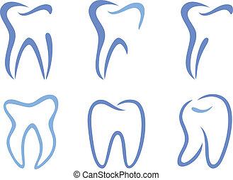 vector, teeth