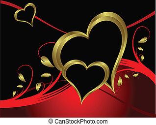 vector, valentines, achtergrond