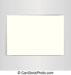 vector, witte , papier, blad, illustratie