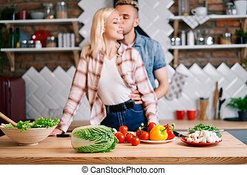 vegetariër, concept, voedingsmiddelen