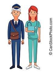 verpleegkundige, brievenbesteller