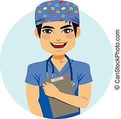 verpleegkundige, man