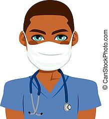 verpleegkundige, mannelijke , black