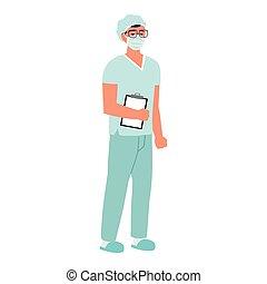 verpleegkundige, professioneel, mannelijke