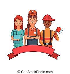 verpleegkundige, verkoper, brandweerman