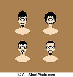 verticaal, avatar, spotprent