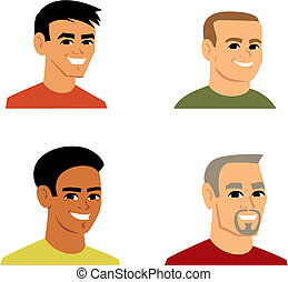 verticaal, avatar, spotprent, illustratie